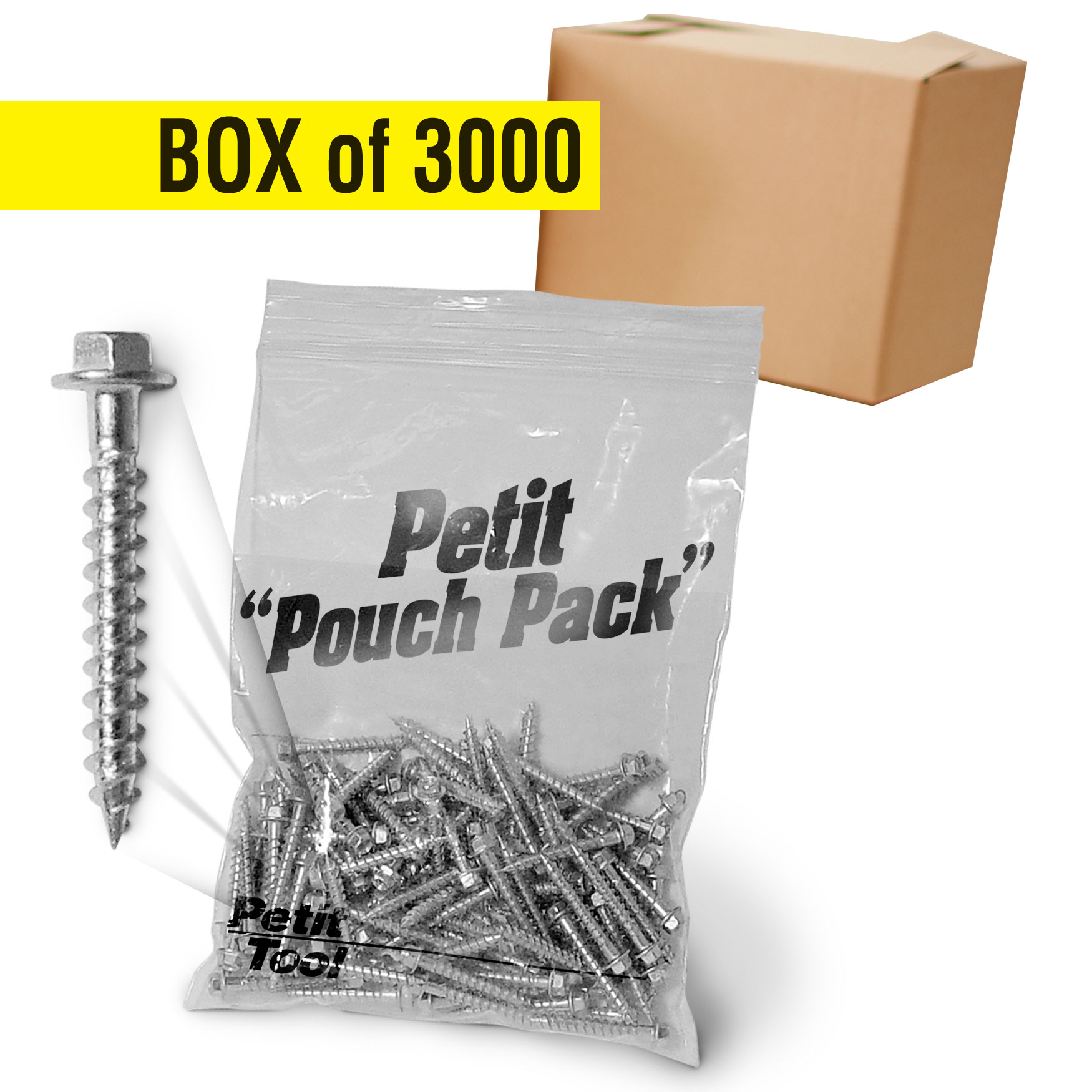 "#11-Petit Custom Heavy Duty Hanger Screws – 1 ½"" - Bulk"